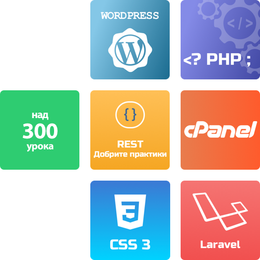 Wordpress, PHP, REST, cPanel, CSS3, Laravel